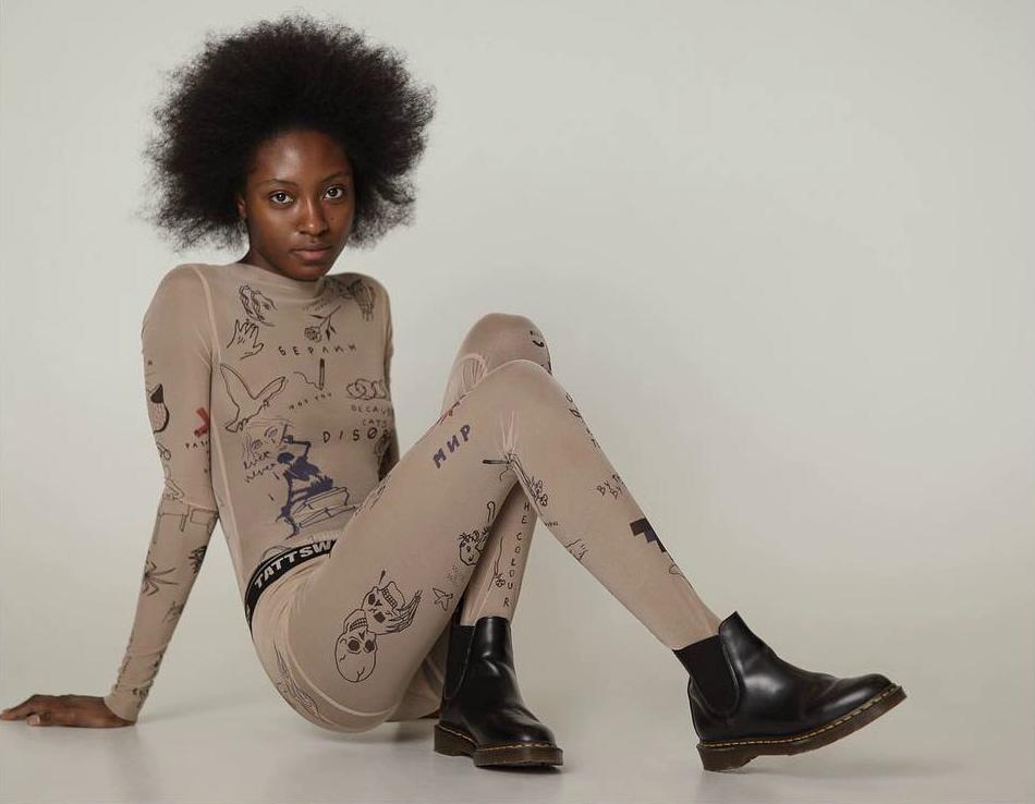 designer clothes, clothes in tattoo style, Anna Osmekhina, Ukrainian designer, tattoosweaters