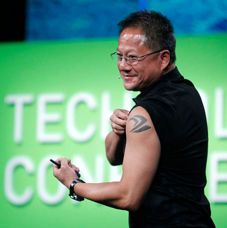 Nvida, Jensen Huang, head of the company, corporate tattoos, businessman of the year, success, new business, computer games