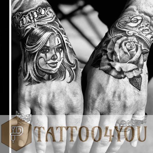 Chicano Black-Gray Tattoo