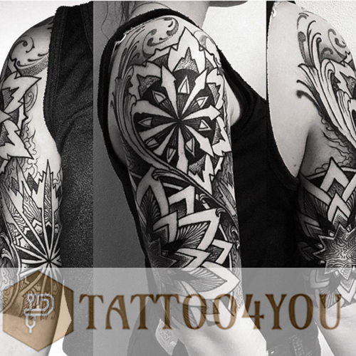 Dot work Black-Gray Tattoo