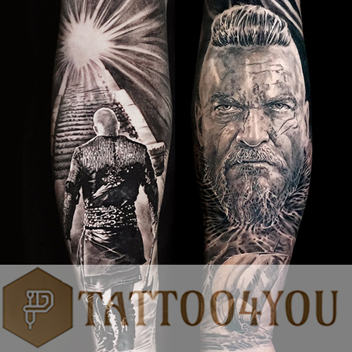 Black and Grey Tattoo Sleeves