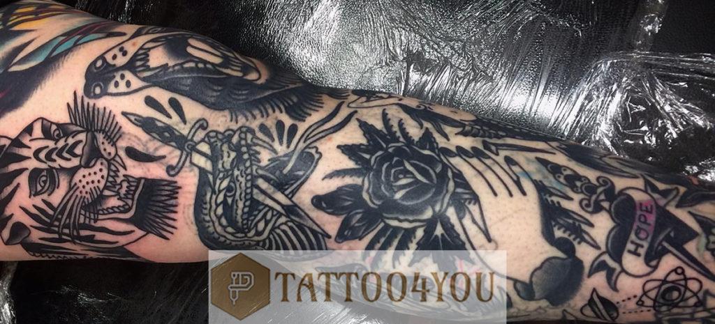 Blast Over Tattoo Design