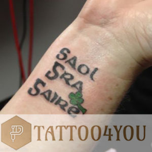 GAELIC PHRASES tattoo